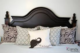 King size wood headboard Bedroom Wooden Headboard Bed Wood Headboard Including Black Wood King Size Bed Frame And Light Blue Pinterest Wooden Headboard Bed Wood Headboard Including Black Wood King