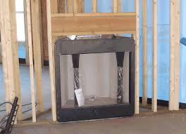 corner fireplace framing