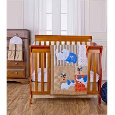 dream on me jungle babies 4 piece reversible portable crib bedding