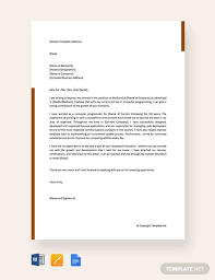 Free Self Recommendation Letter For Job Template Word