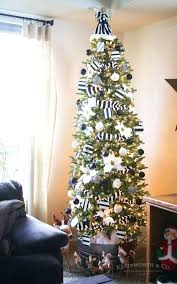 white christmas tree themes black and decorations decoration ideas 2017