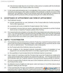 Distribution Distributor Distributorship Supplier Agreement