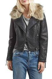 top faux leather moto jacket with removable faux fur collar nordstrom