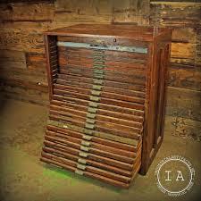 Convert Cabinet To File Drawer Vintage Industrial 24 Drawer Hamilton Flat File Print Cabinet