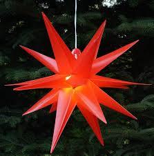 Guru Shop 3d Außenstern Weihnachtsstern Faltstern Kaspar Rot Mit Led ø Ca55 Cm Plastik Weihnachtsstern Adventsstern