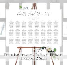 Seating Chart Wedding Modern Wedding Seating Chart