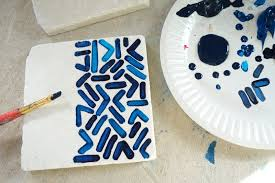 how to make a tile coaster patterned tile coasters step 2