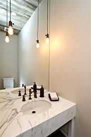 powder room bathroom lighting ideas. Powder Room Ceiling Light Ideas Magnificent Bathroom Lighting Farmhouse Design With Bare Bulb .