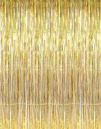 x gold tinsel foil fringe door window curtain party decoration in clothing shoes accessories