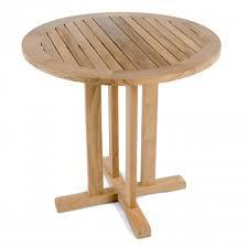 30 inch round teak table