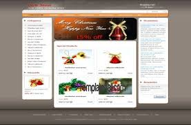 Free Christmas Website Templates Christmas Store Css Website Template