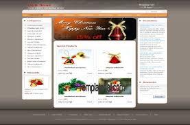 Dreamweaver Website Templates Custom Christmas Store CSS Website Template