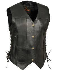 zoomed image milwaukee leather women s black 6 pocket side lace conceal carry vest black hi