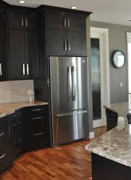 Dark Kitchen Dark Kitchen Cabinets With Grey Walls Outofhome