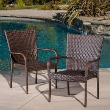 Outdoor PE Wicker Stackable Club Chairs Set of 2 by Christopher Knight Home 887ad81d 5d9c 4eec b00d 8bcaa55ec5c0 600