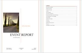 report template for word event report template microsoft word templates