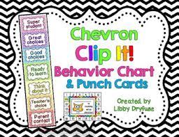 Student Behavior Chart Clip System Chevron