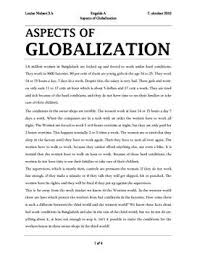 essays on globilization short essay on globalization important