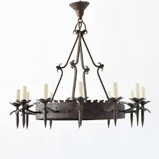 neo gothic iron ring chandelier