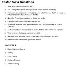 24 Fun Easter Trivia For You To Complete Kittybabylove Com