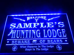 cabin decor lodge sled: lodge decor dz name personalized custom hunting font b lodge b font firearms man cave bar neon sign