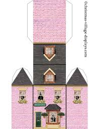 christmas house template printable model card houses christmas village displays