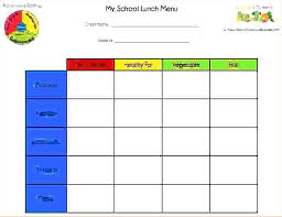 Breakfast Menu Template Cool School Lunch Menu Template Lunches Part 48 Planning Healing Cuisine