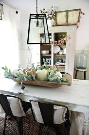rustic neutral fall dough bowl centerpiece lovely farmhouse style dining room simple centerpieces large antique wooden