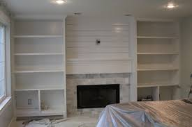 built in bookshelves around fireplace plans bookcase beside shelves