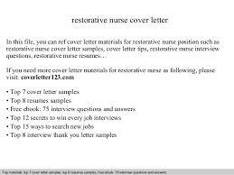 Nurse Cover Letter Amazing Restorative Nurse Cover Letter
