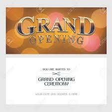 Grand Opening Invitations Grand Opening Vector Illustration Background Invitation Card