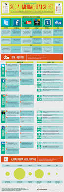 Social Media Networking Site Cheat Sheet Social Media Infographics