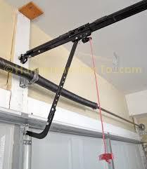 chamberlain belt drive garage door opener trolley and door arm detail