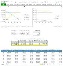 Amortization Table For Loan Free Excel Loan Repayment Template Calculator Inspirational Student