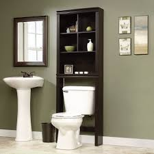 Over The John Storage Cabinet Sauder Peppercorn 2331 W X 6858 H Over The Toilet Storage