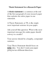 Good Thesis Statement Examples For Essays