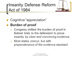 Image result for Congress passed the Insanity Defense Reform Act of 1984,