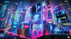 Neon City Wallpaper 4K 1920X1080