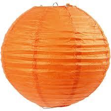 Paper Lamp D 20 Cm Orange 1pc 50003