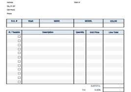 Car Service Receipt Template Car Service Receipt Template Auto Repair Invoice Template For Excel