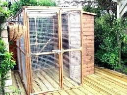 outdoor cat enclosure plans building diy enclosures uk o