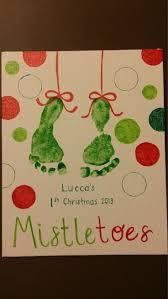 Best 25 Mistletoe Footprint Ideas On Pinterest  Christmas Infant Christmas Crafts