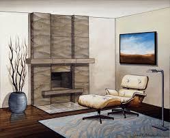 contemporary stone fireplace mantels ripple denise mueller