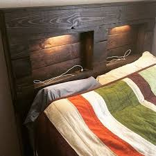 33 stylist and luxury pallet headboard 27 diy ideas guide patterns within queen headboard with lights renovation
