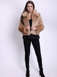 tn camel faux fur jacket