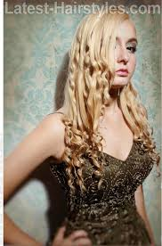 long blonde prom hairstyle with curls