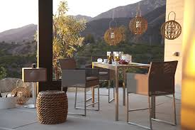 stylish outdoor furniture. Boxy Outdoor Dining Table And Chairs Stylish Furniture