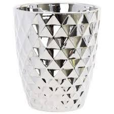 <b>Кашпо</b> для цветов <b>Mirror</b> Silver керамика 14 зеркальный с ...