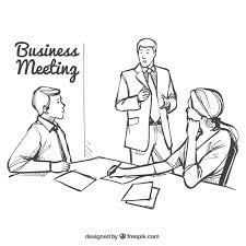 ビジネスミーティングのイラスト ベクター画像 無料ダウンロード