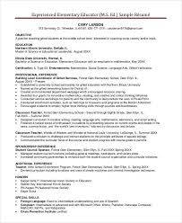 Best Objective For Teacher Resume Best Of 24 Basic Teacher Resume Templates PDF DOC Free Premium Templates